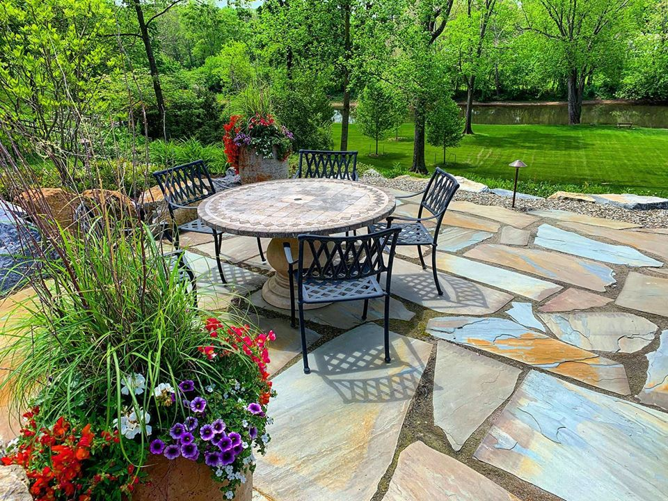 full color stone patio