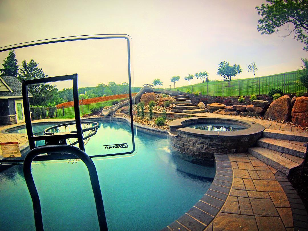 poolside outdoor living area