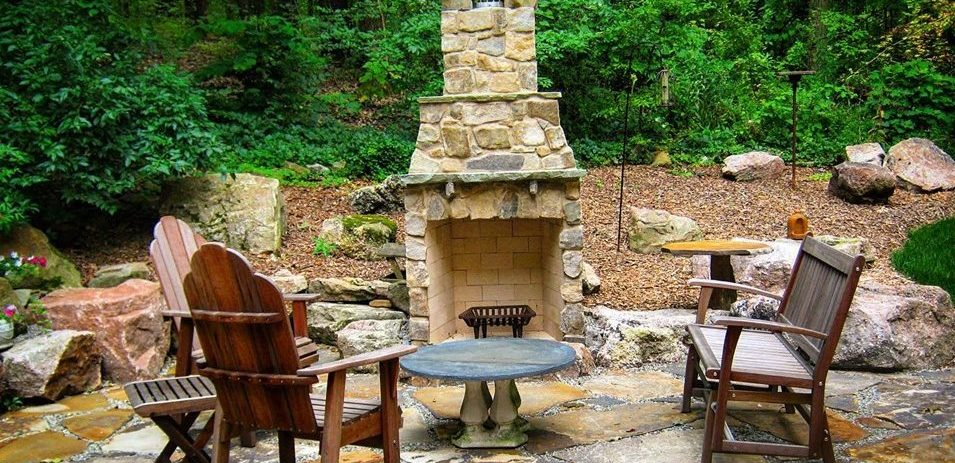 Wooded Outdoor Living Space
