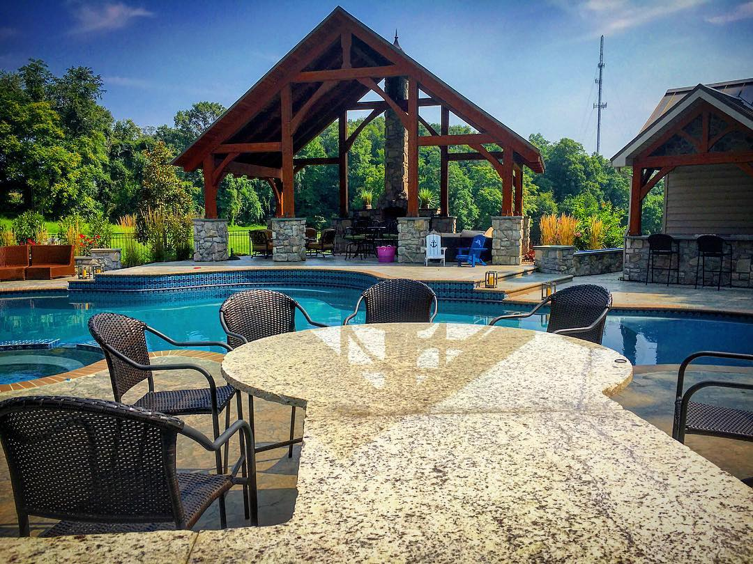 Poolside Outdoor Dining Area