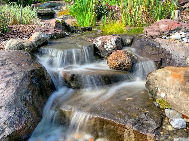 large pondless waterfall