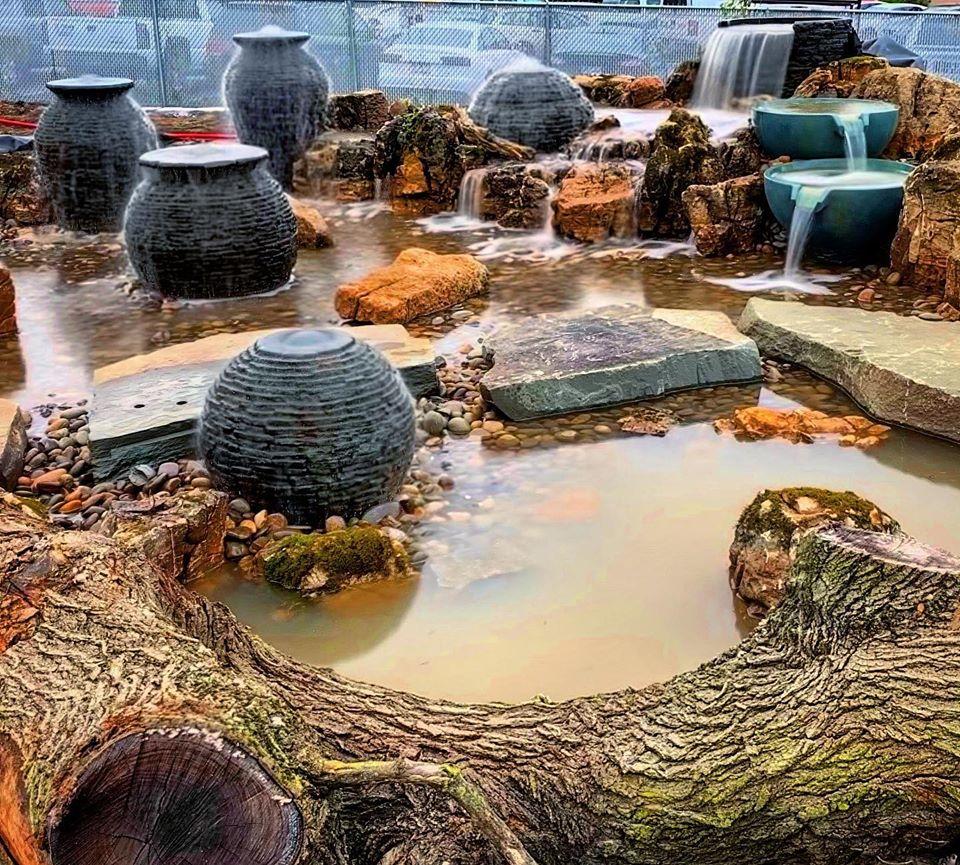 Fountain-waterfalls