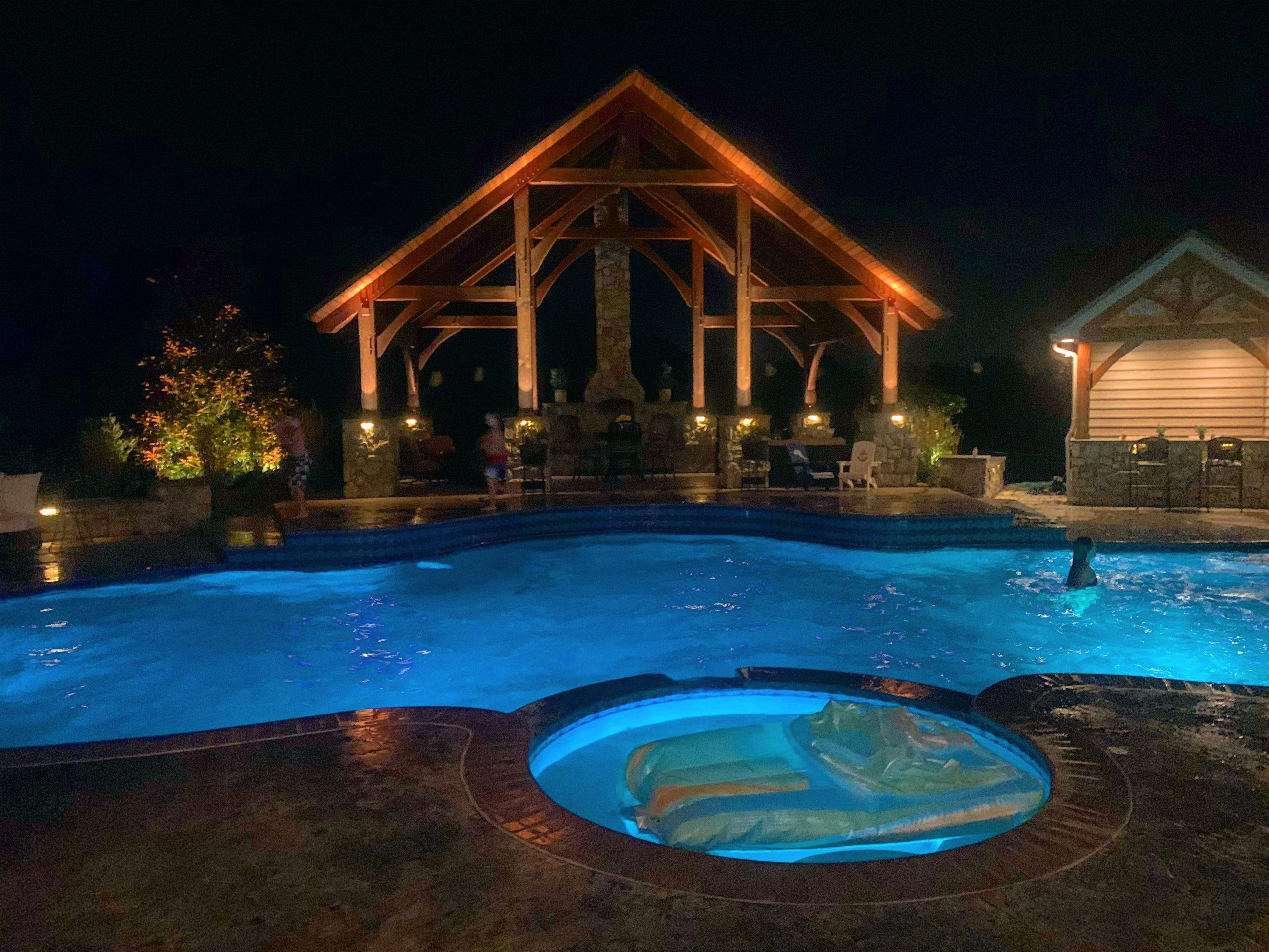 Pool side Landscape Lighting